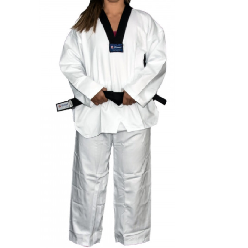 Kimono Torah Taekwondo Olympic Gola Preta - Adulto