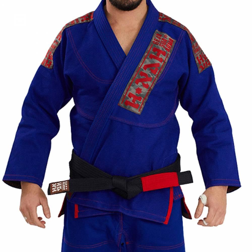 Kimono Trançado Elite Jiu Jitsu Haganah - Azul