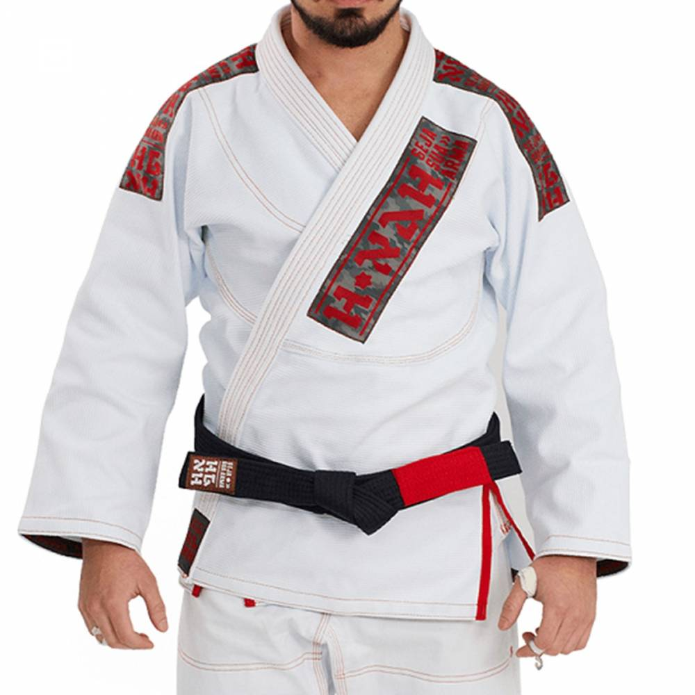 Kimono Trançado Elite Jiu Jitsu Haganah - Branco