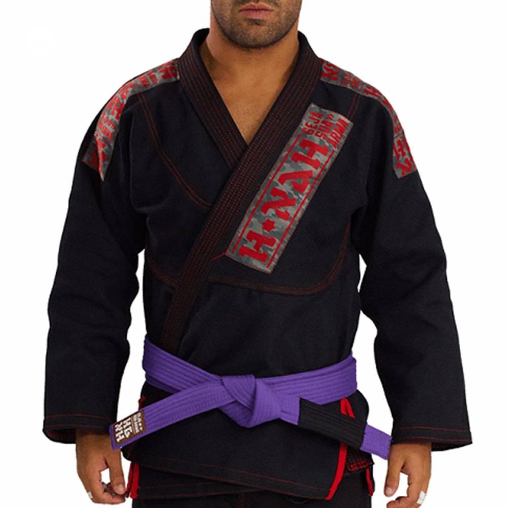 Kimono Trançado Elite Jiu Jitsu Haganah - Preto