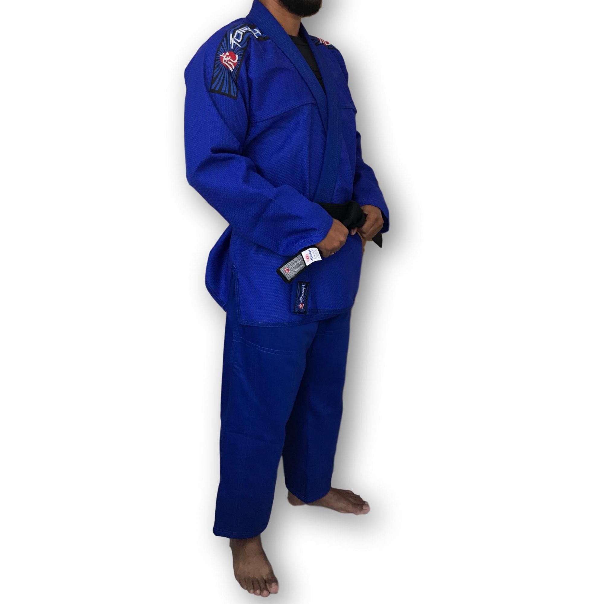 Kimono Trançado Flex Jiu Jitsu Adulto - Azul - Torah