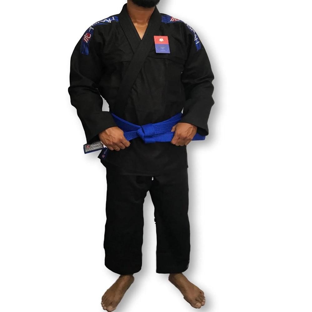 Kimono Torah Trançado Flex Jiu Jitsu - Preto