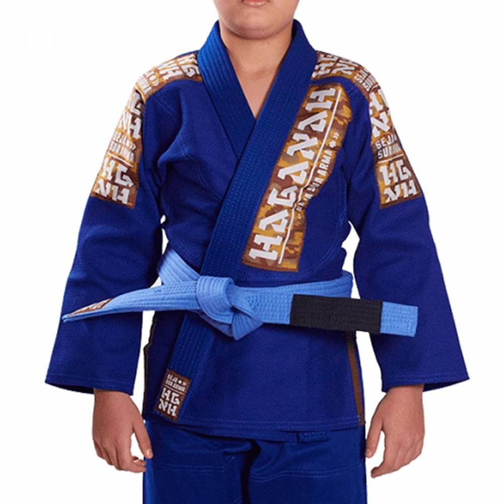 Kimono Trançado Infantil Light Jiu Jitsu Haganah - Azul