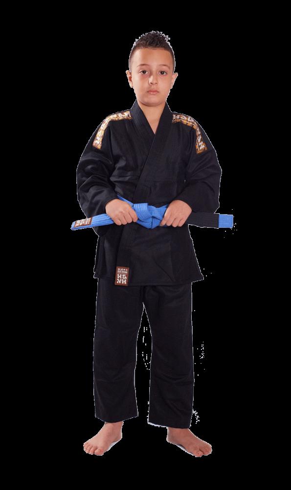 Kimono Trançado Infantil Light Jiu Jitsu Haganah - Preto