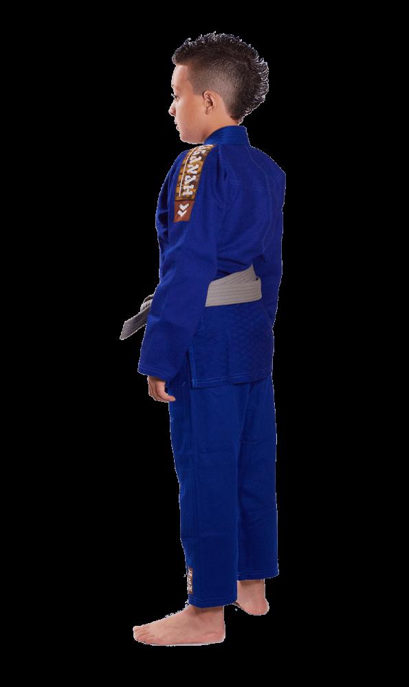 Kimono Trançado Infantil Tradicional  Judo Haganah - Azul