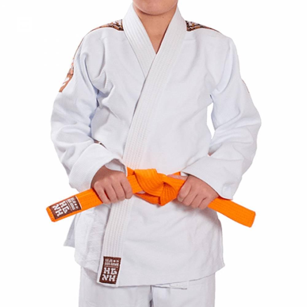 Kimono Trançado Infantil Tradicional  Judo Haganah - Branco