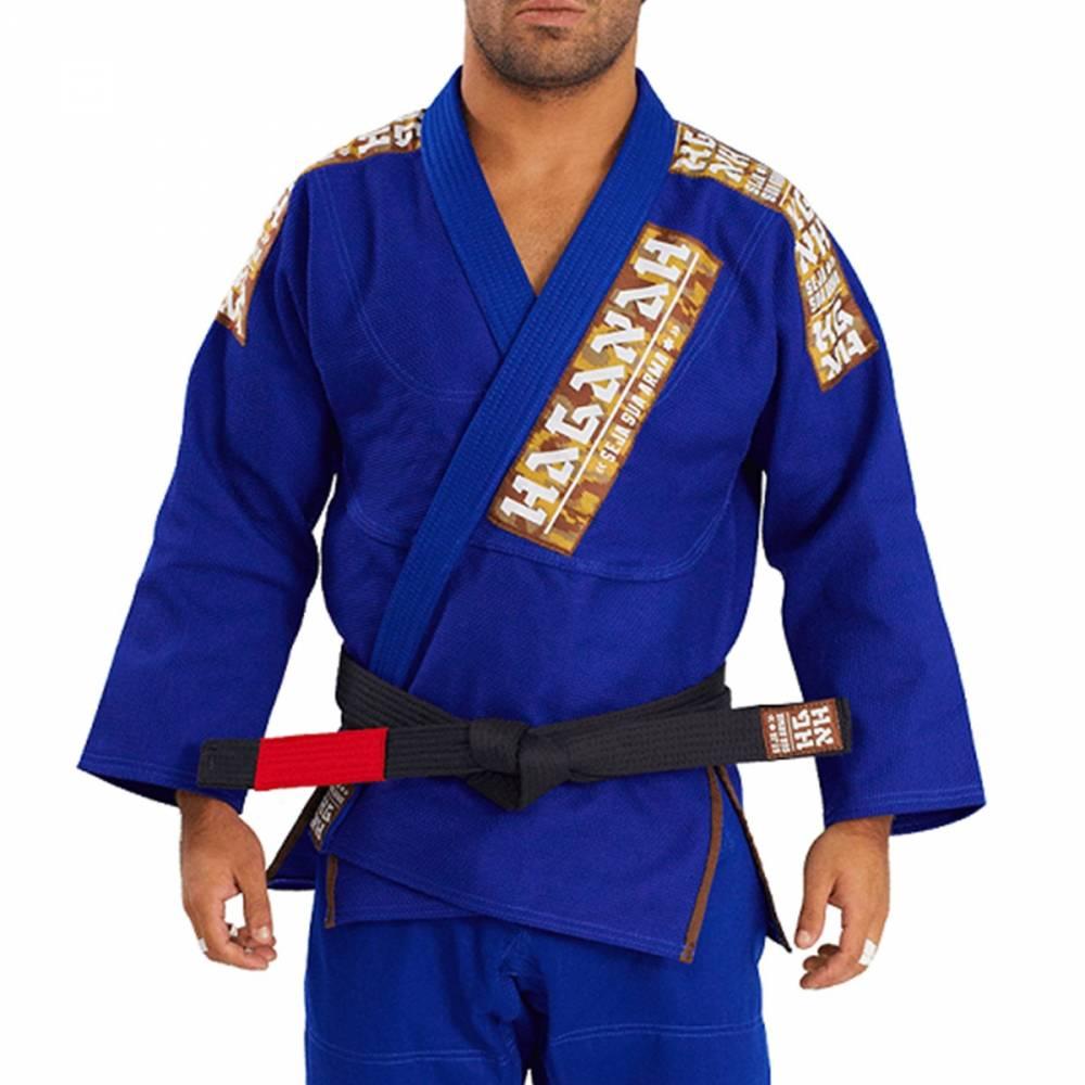 Kimono Trançado Light Jiu Jitsu Haganah - Azul