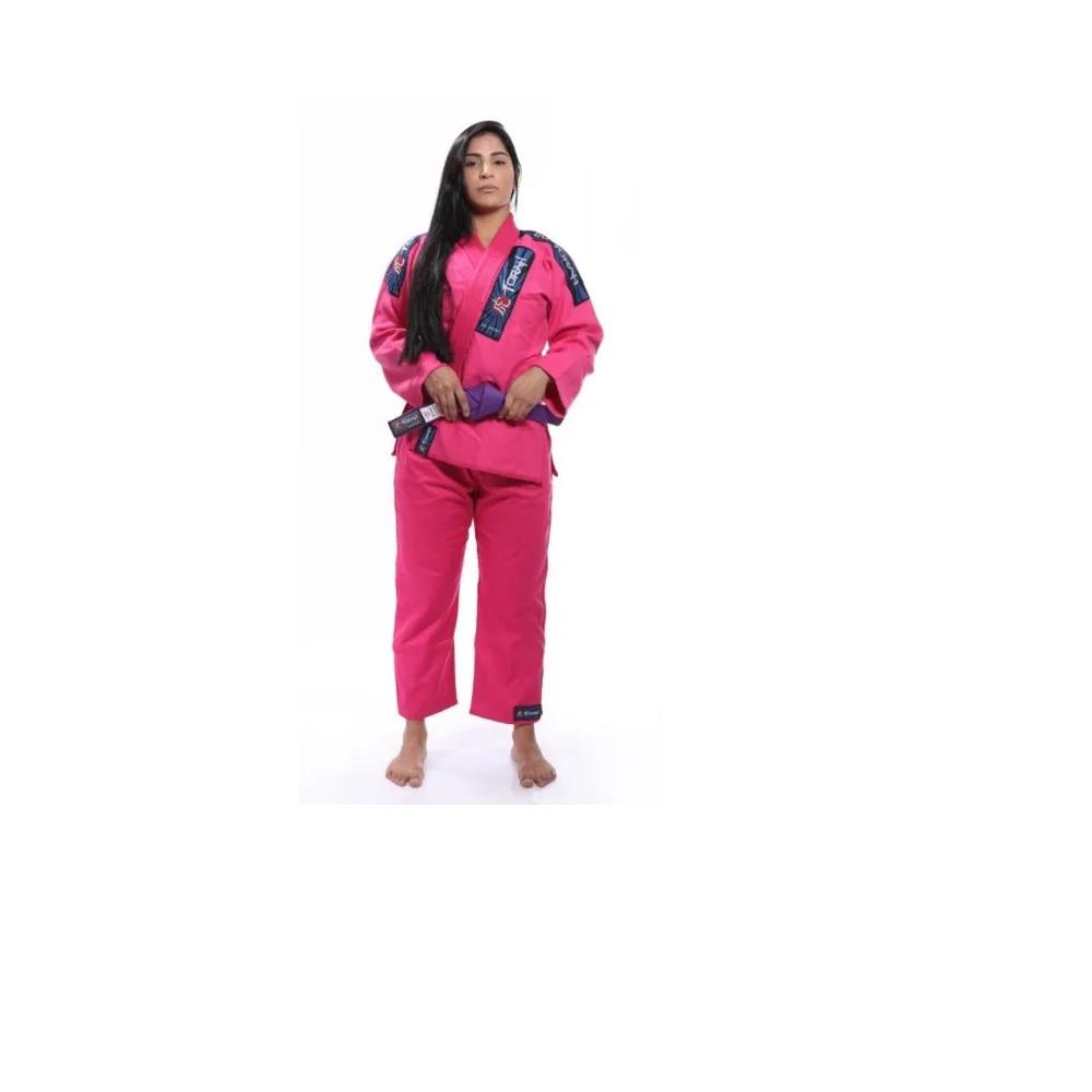 Kimono Trançado Plus Torah  Jiu Jitsu Rosa - Adulto