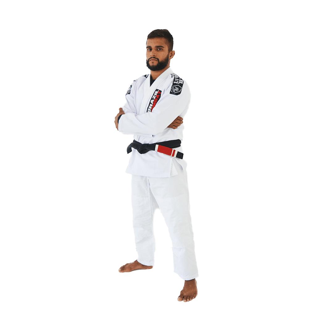 Kimono Trançado Xtra-Lite Brazil Combat - Branco