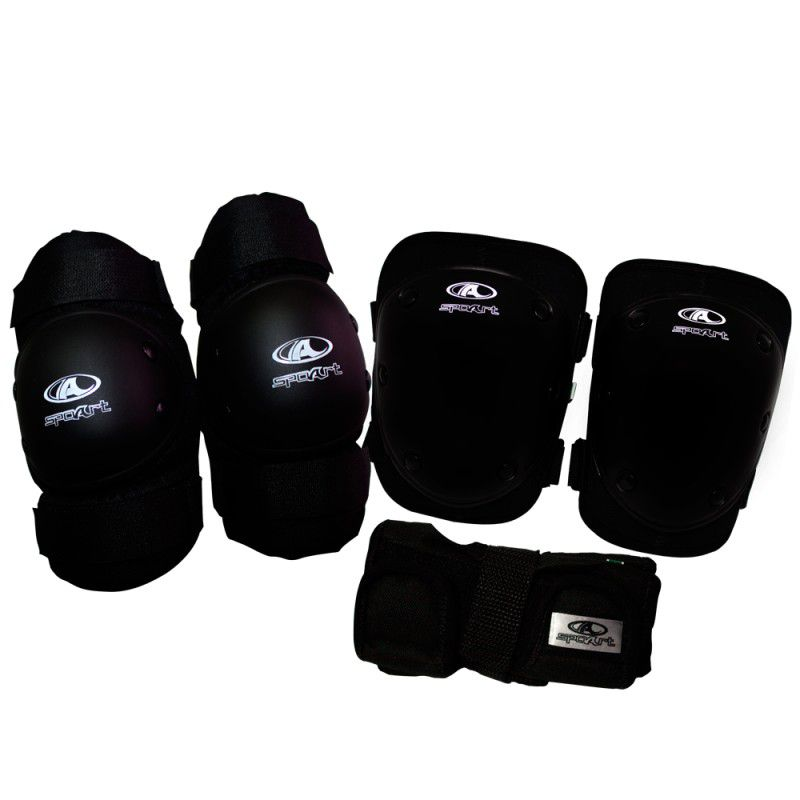 Kit De Proteção S9 Infantil Spoart Tam Unico Preto