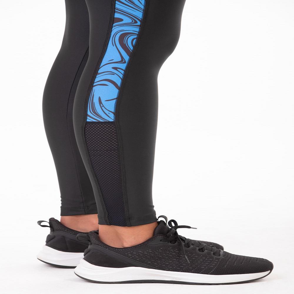 Legging Authen Fortalecimento Charm - Preto / azul