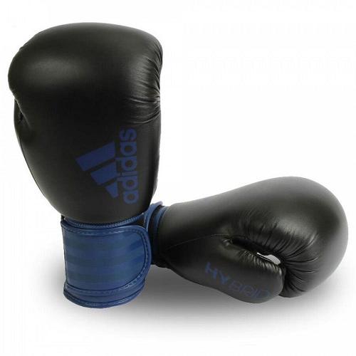 Luva Adidas Boxe/Muay Thai adidas Hybrid 100 - Azul/Preta