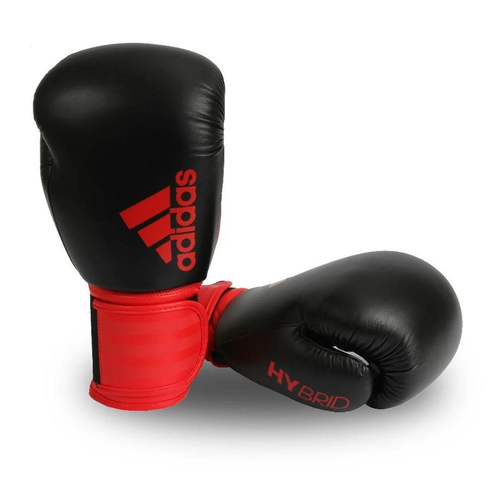 Luva Adidas Boxe/Muay Thai adidas Hybrid 100 - vermelho/Preta