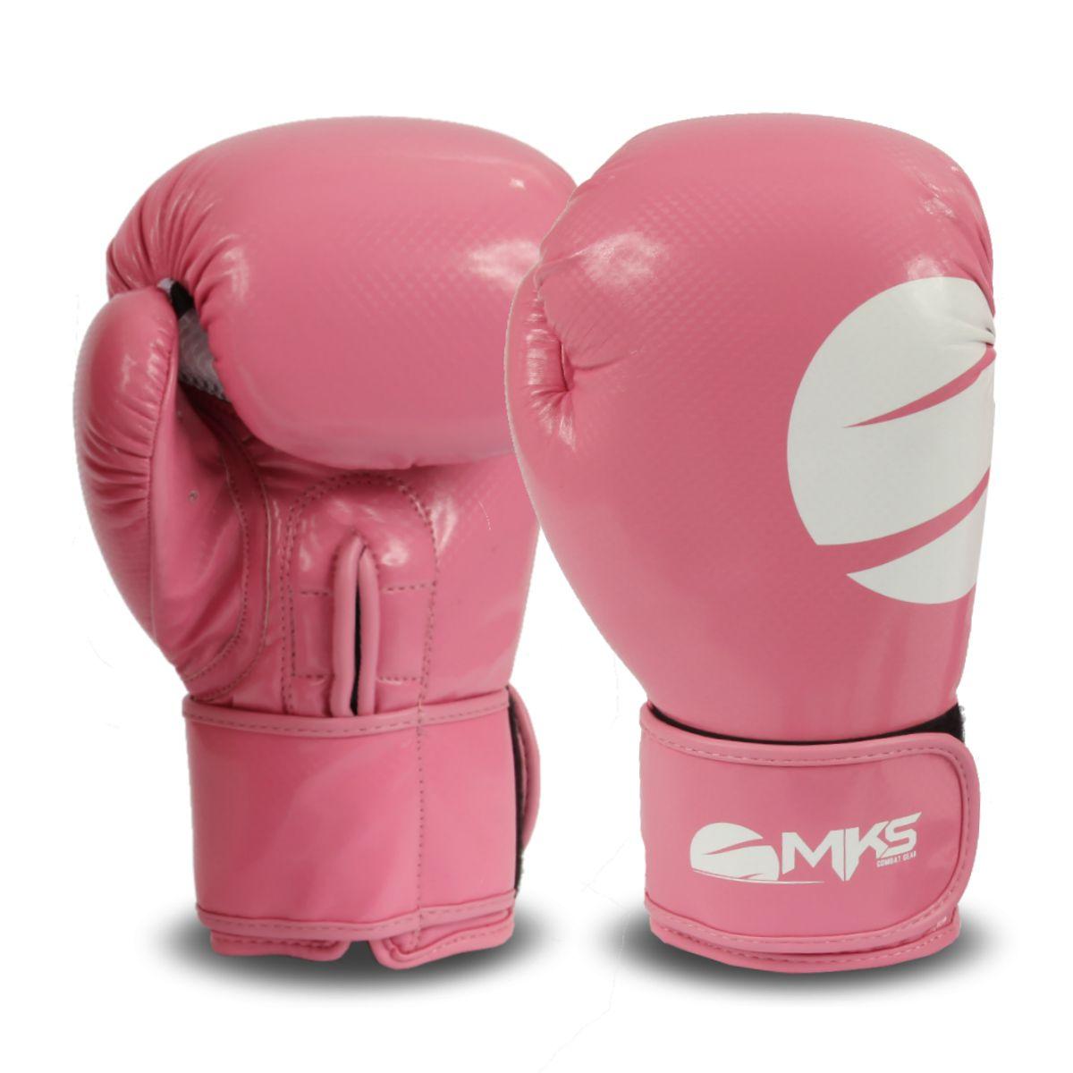 Luva Boxe Lady Mks - Rosa