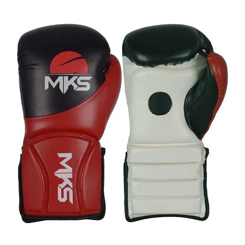 Luva de foco Sparring coach MKS - preta / vermelho