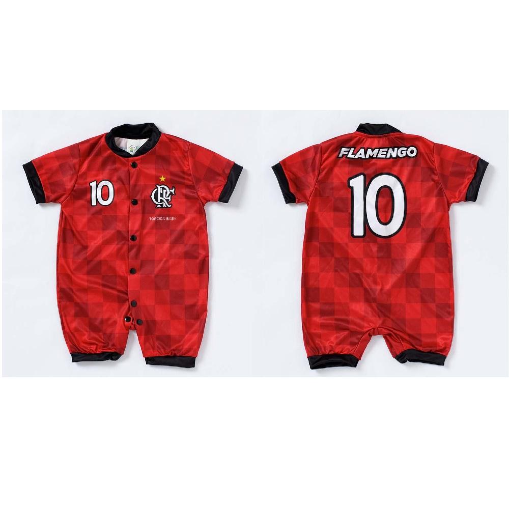 Macacão Estilo Flamengo - Torcida Baby