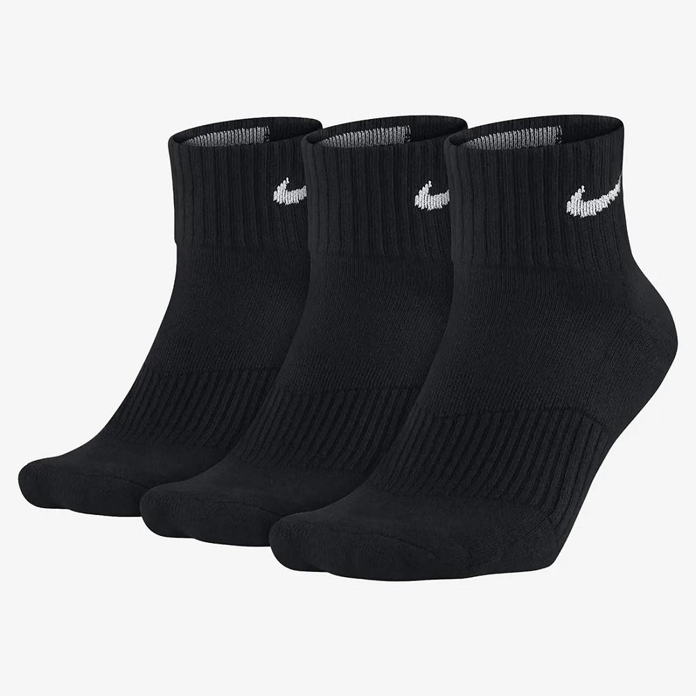 Meia Nike Cano Médio Everyday Cushion Pacote C/ 3 - preta
