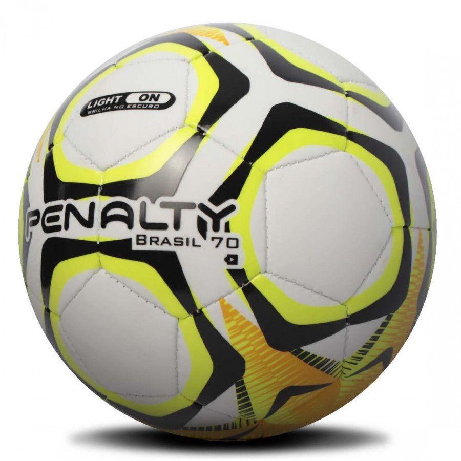 Mini Bola Penalty Brasil 70 IX - Branca / Amarelo
