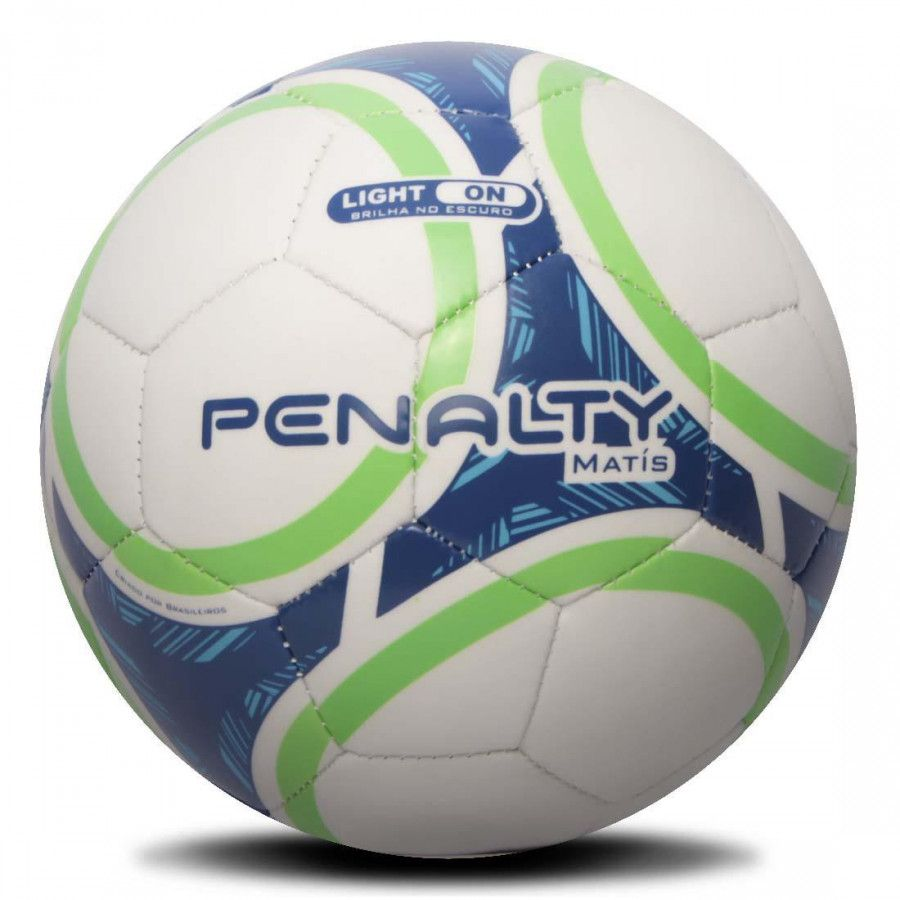 Mini Bola Penalty Matís IX - Branca / Azul