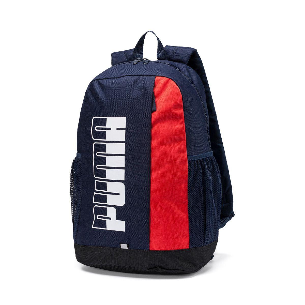 Mochila Puma Plus Backpack - Marinho e Vermelho - Original