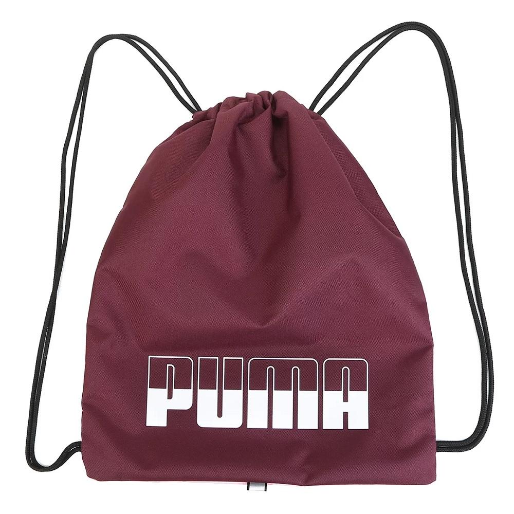 Mochila Puma saco Plus Gym Sack II - Vinho / Rosa
