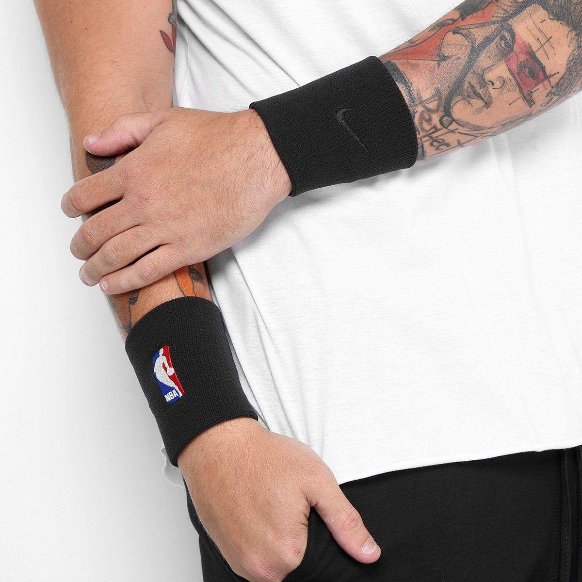 Munhequeira NBA Nike Elite - Preto