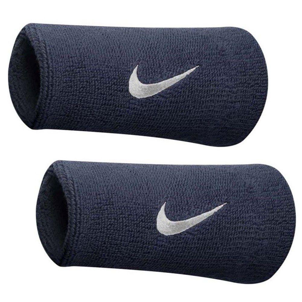 Munhequeira Swoosh double Wristband Nike - Azul Marinho