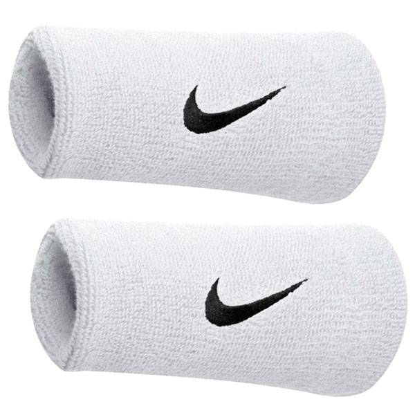 Munhequeira Swoosh double Wristband Nike - Branco