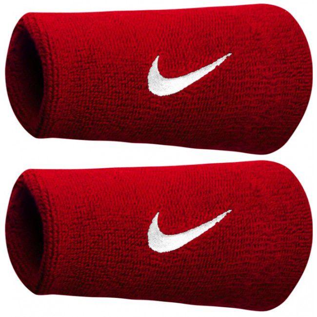 Munhequeira Swoosh double Wristband Nike - Vermelho