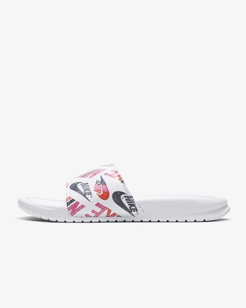 Chinelo Nike Benassi JDI Floral - Lotus