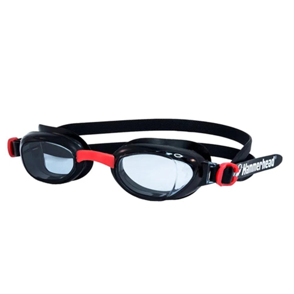 Óculos de Natação Hammerhead Viper - Preto / vermelho / Fumê