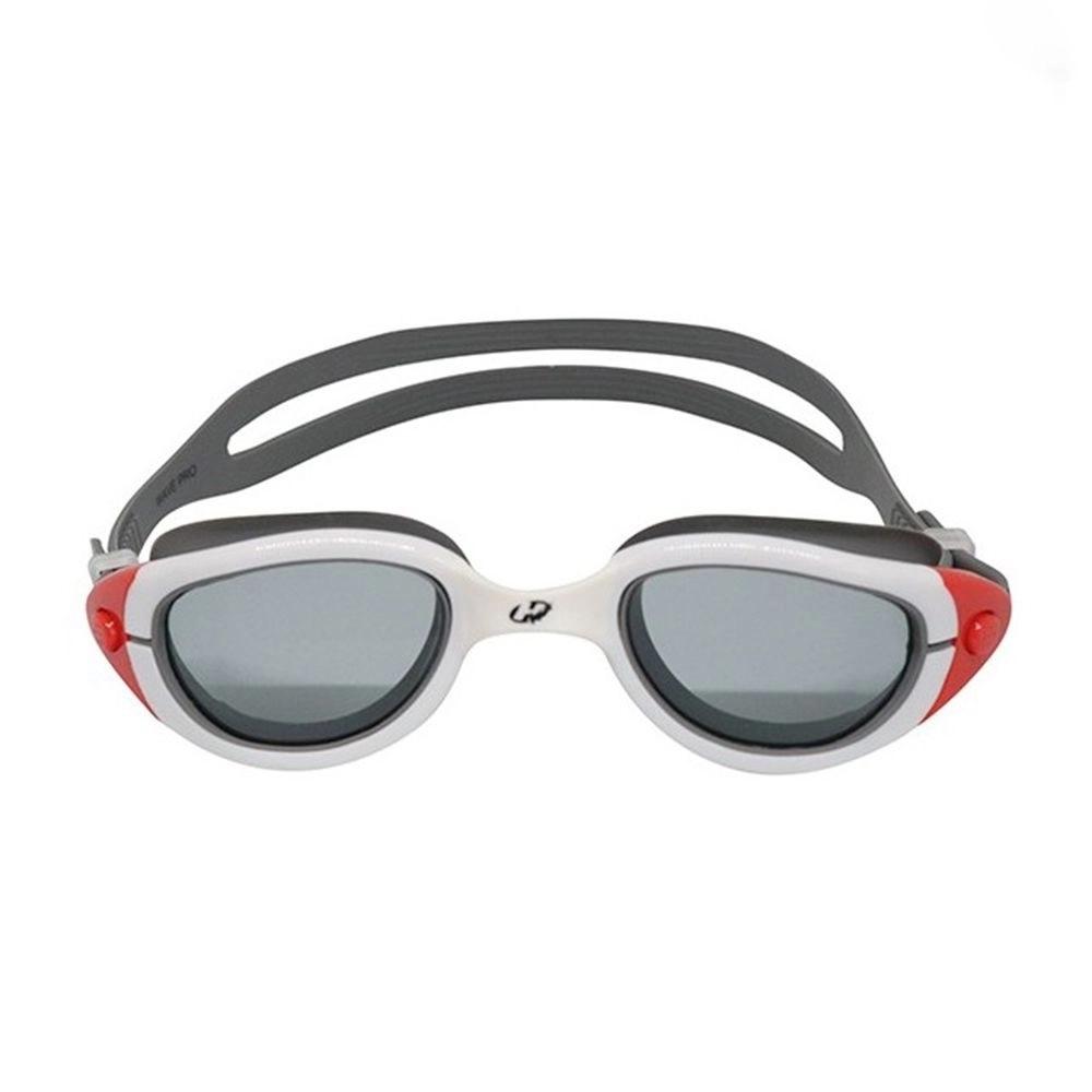 Óculos de Natação Hammerhead wave pro - Branco/cinza/vermelho/fumê