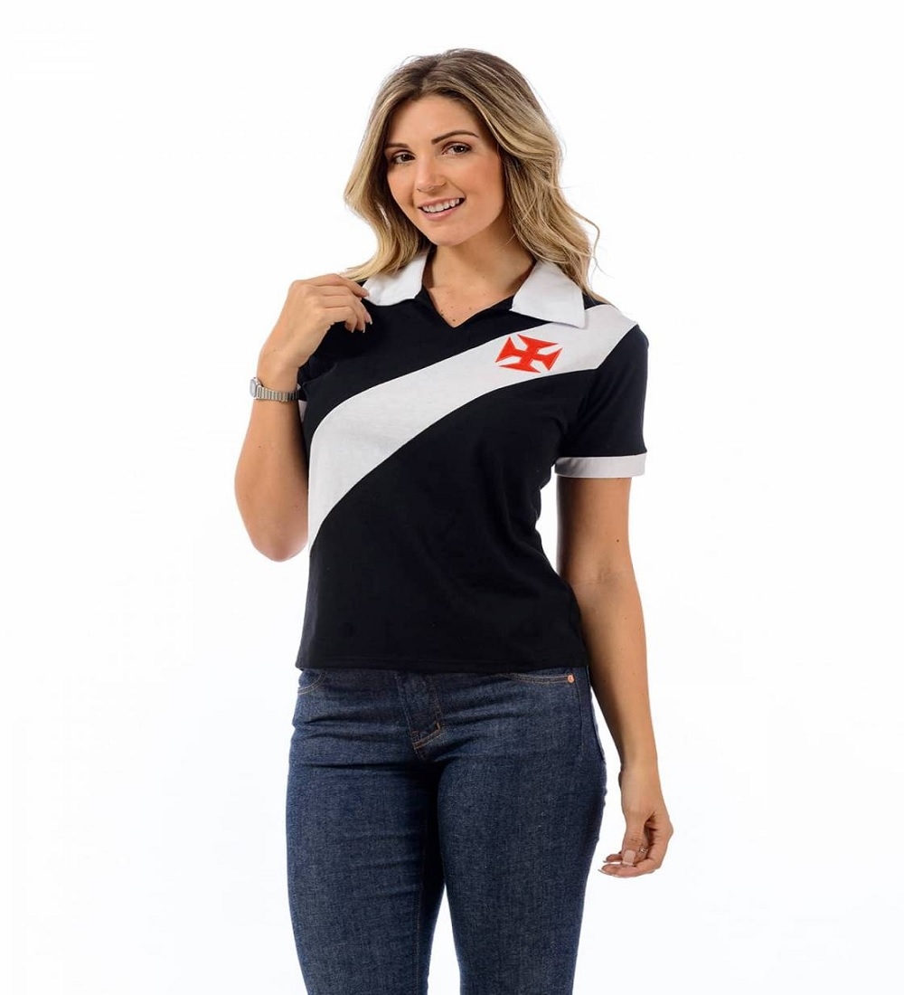 Camisa Polo Vasco Paris Braziline - Feminina