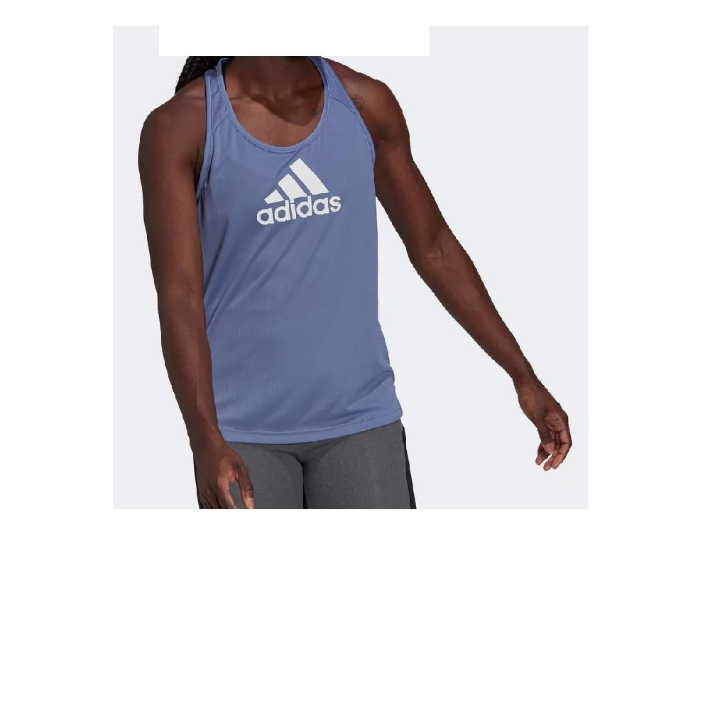 Regata Adidas Logo Feminina - Lilás/Branco