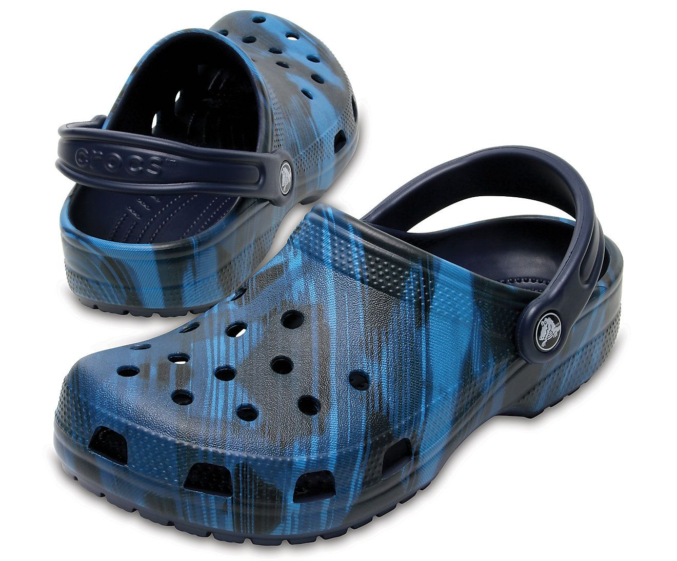 Sandália Crocs Classic Blue Jean Roomy Fit + Nfe