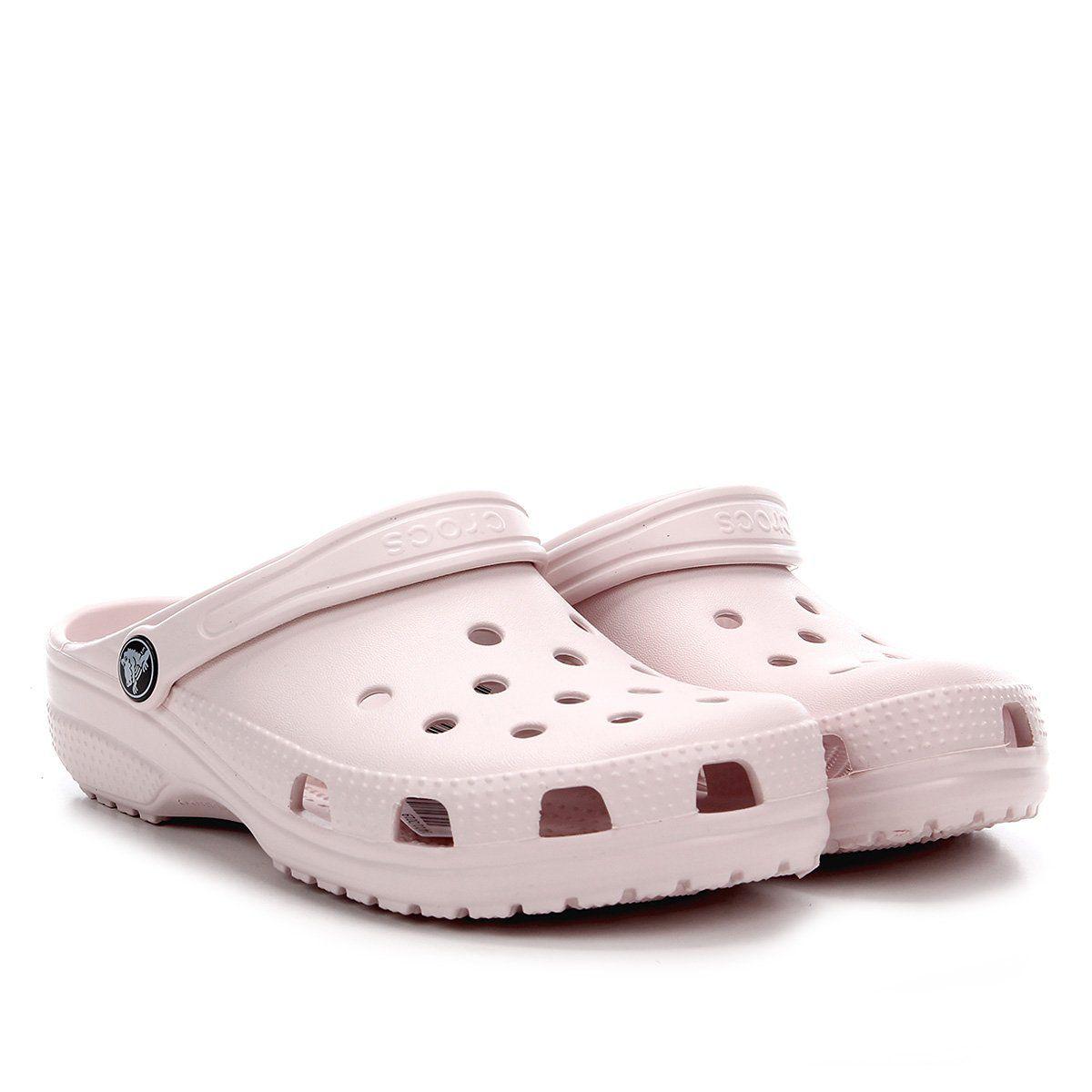Sandália Crocs Classic Infantil - Barely pink