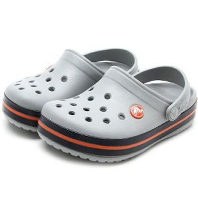 Sandália Crocs Crocband Infantil Light Grey