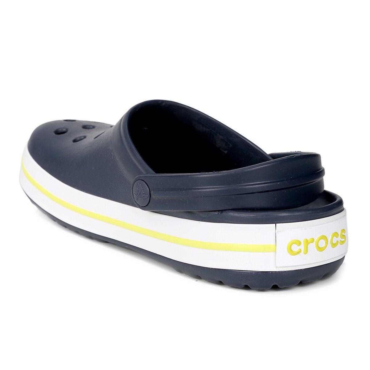 Sandália Crocs Crocband Infantil Navy/Citrus