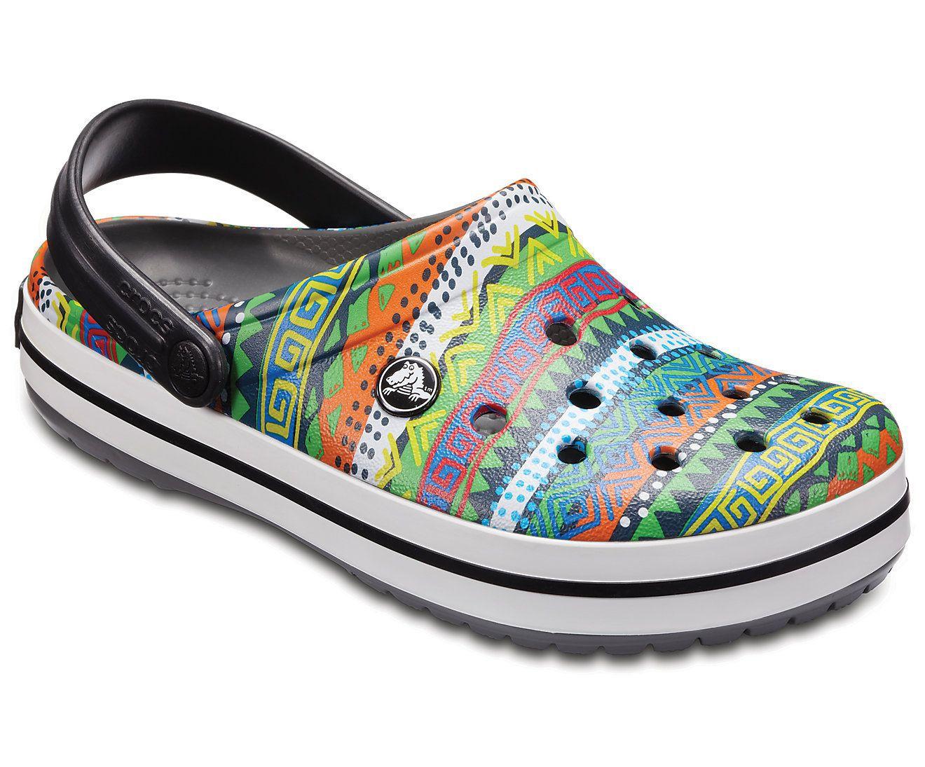 Sandália Crocs Graphic Clog Slate Grey - Black