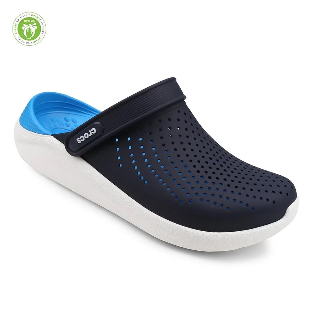 Sandália Crocs Literide Clog - Black / Blue