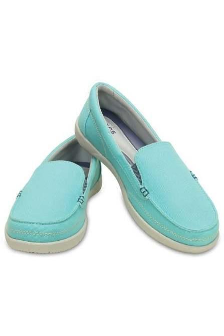 29a6599cb Sapato Crocs Feminino Walu II Canvas - Ice Blue - Titanes Esportes