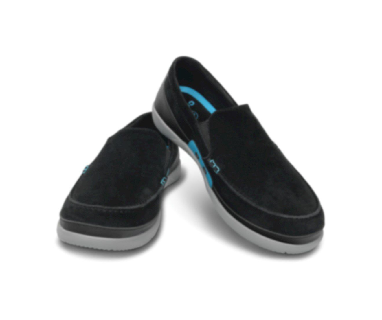 Sapato Crocs Masculino Walu Accent Suede Loafer Black