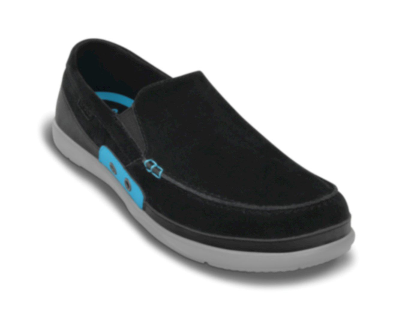 Sapato Crocs Masculino Walu Accent Suede Loafer Black