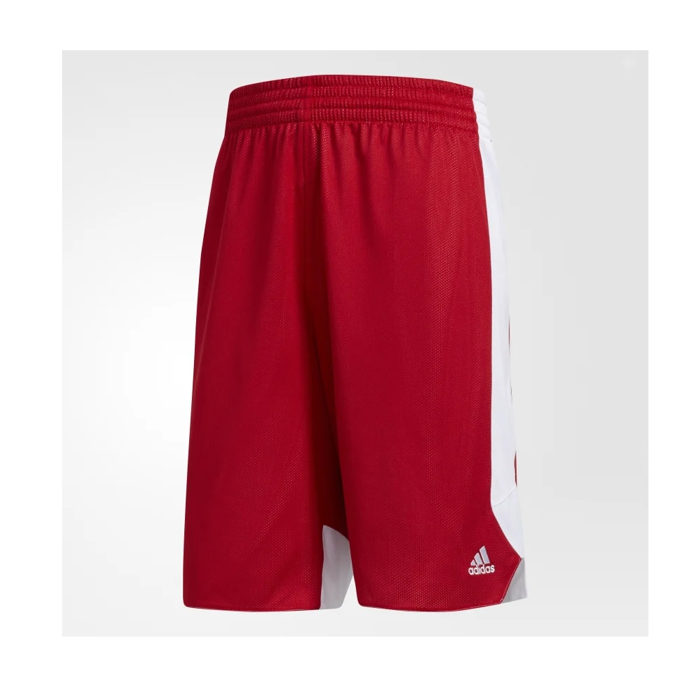 Bermuda Adidas Crazy Explosion Reversível - Vermelho/branco