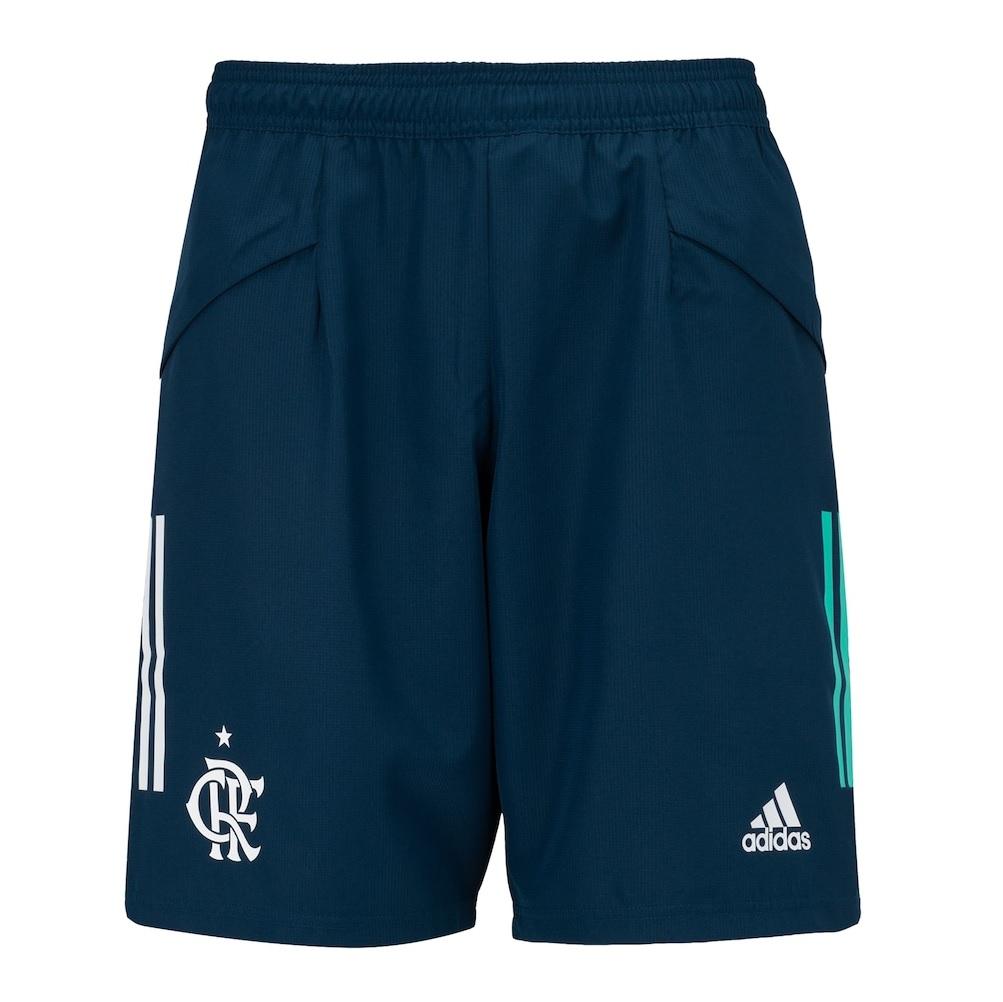 Short Adidas Flamengo Downtime CRF - Azul - Masculina