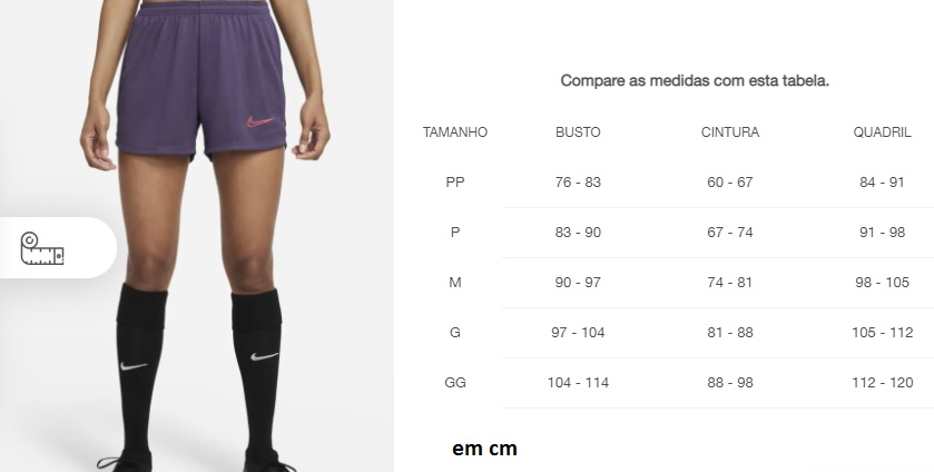 Short Nike Dri-FIT Academy Feminino - preto