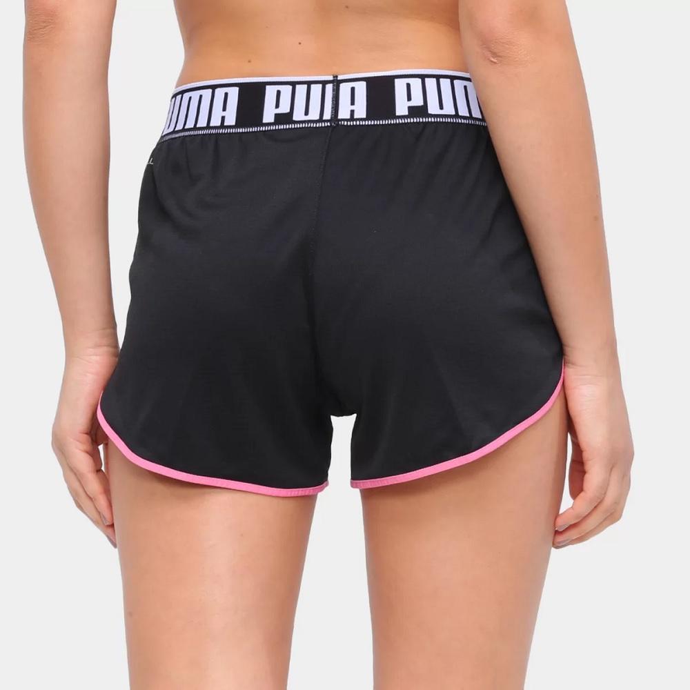 Short Puma Last lap knit - preto/rosa