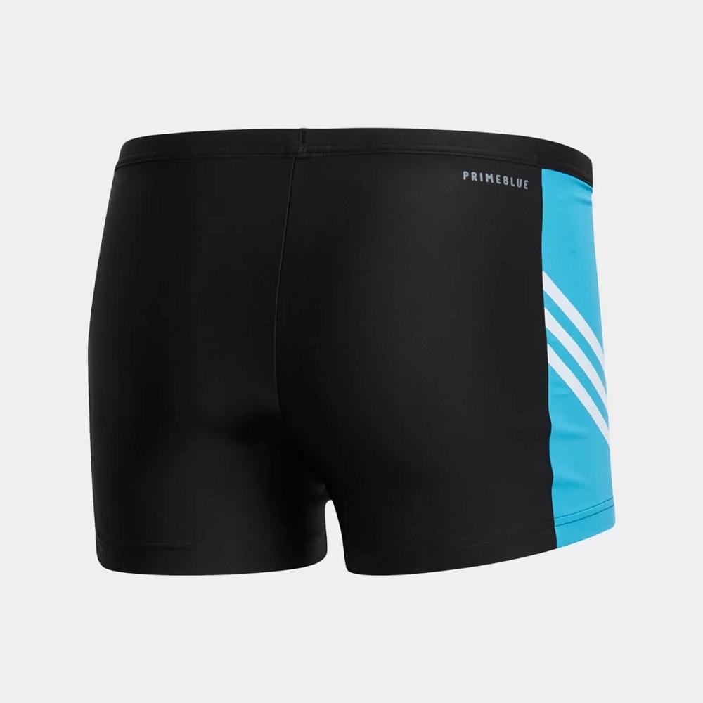 Sunga Adidas boxer Fit 3 sencond - Preto/azul