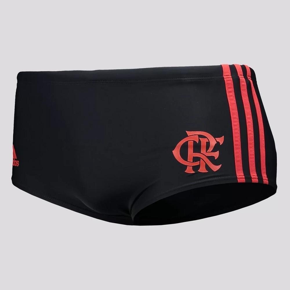 Sunga Adidas Flamengo Boxer 3-stripes - Preto/vermelho