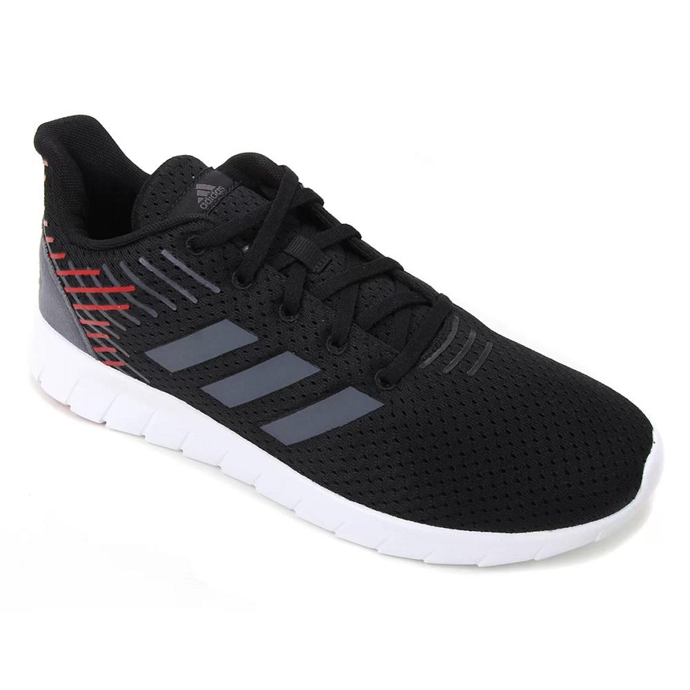 Tênis Adidas Asweerun - Preto / vermelho